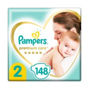 PAMPERS Premium Care Πάνες Νο2 4-8Kg 148τεμ