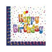 Χαρτοπετσέτες με σχέδιο Happy Birthday 33x33cm 30φύλλα
