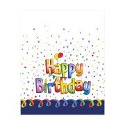 Τραπεζομάντηλο Πλαστικό με σχέδιο Happy Birthday 120x180cm