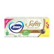 ZEWA Natural Soft Χαρτομάντηλα Τσέπης 4 Φύλλων 8τεμ +2 Δώρο 220gr