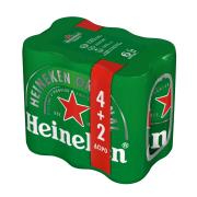 HEINEKEN Μπίρα Lager 4x330ml +2 Δώρο