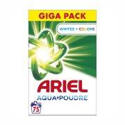 ARIEL Απορρυπαντικό Πλυντηρίου Ρούχων Σκόνη Whites & Colors 75 πλύσεις