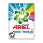 ARIEL Απορρυπαντικό Πλυντηρίου Ρούχων Σκόνη Touch Of Lenor Color Fresh 56 πλύσεις
