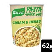 KNORR Snack Pot Ζυμαρικά Cream & Herbs 62gr