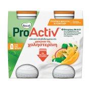 BECEL Pro Activ Ρόφημα Γιαουρτιού με Τροπικά Φρούτα & Τζίντζερ 4x75gr