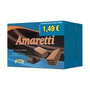AMARETTI Γκοφρέτα Μαύρη Σοκολάτα 3x68gr