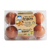 Αυγά ΧΡΥΣΑ ΑΥΓΑ Αχυρώνα Medium 6τεμ 53-63gr