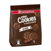 ΠΑΠΑΔΟΠΟΥΛΟΥ Μίνι Cookies Μπισκότα με Κομμάτια Μαύρης Σοκολάτας, Σοκολάτας Γάλακτος & Κακάο 70gr