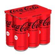 COCA COLA Zero Αναψυκτικό Χωρίς ζάχαρη 6x330ml