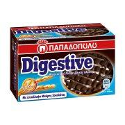 ΠΑΠΑΔΟΠΟΥΛΟΥ Digestive Μπισκότα με Επικάλυψη Μαύρη Σοκολάτα 200gr
