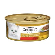 GOURMET Gold Υγρή Τροφή Γάτας Βοδινό & Κοτόπουλο Διπλή Απόλαυση 85gr