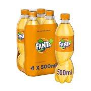 FANTA Αναψυκτικό Πορτοκαλάδα με Ανθρακικό 4x500ml
