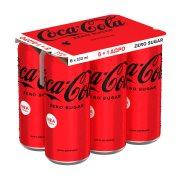 COCA COLA Zero Αναψυκτικό Χωρίς ζάχαρη 5x330ml +1 Δώρο