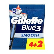 GILLETTE Ξυραφάκια Μιας Χρήσης Blue3 4τεμ +2 Δώρο