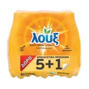 ΛΟΥΞ Αναψυκτικό Πορτοκαλάδα με Ανθρακικό 5x330ml +1 Δώρο