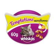 WHISKAS Temptations Σνακ Γάτας με Κοτόπουλο & Τυρί 60gr