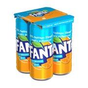FANTA Αναψυκτικό Πορτοκαλάδα χωρίς Ανθρακικό 4x330ml
