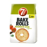 7DAYS Bake Rolls Παξιμαδάκια Ντομάτα & Ελιά 160gr