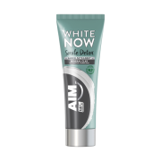 AIM Οδοντόκρεμα White Now Detox με Άνθρακα & Άργιλο 75ml
