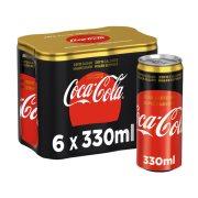 COCA COLA Zero Αναψυκτικό χωρίς Καφεΐνη Χωρίς ζάχαρη 6x330ml