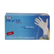 PRACTIC Γάντια Latex Large 100τεμ