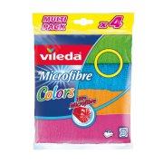 VILEDA Πετσέτα Microfibre Colors 4τεμ