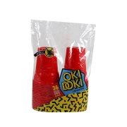 OKI DOKI Ποτήρια Κόκκινα 430ml 36τεμ