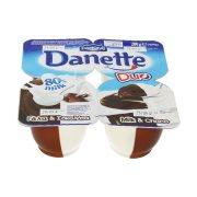 DANETTE Duo Επιδόρπιο Γάλα & Σοκολάτα 4x70gr