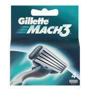 GILLETTE Ανταλλακτικές Κεφαλές Ξυρίσματος Mach3 4τεμ