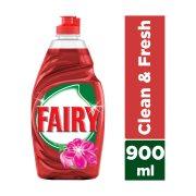 FAIRY Clean & Fresh Απορρυπαντικό Πιάτων Υγρό Κόκκινα Μούρα 900ml