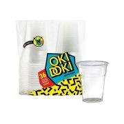 OKI DOKI Ποτήρια Πλαστικά Διάφανα 480ml 36τεμ