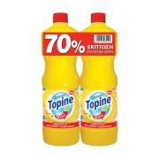 TOPINE Gel Ultra Χλωρίνη Λεμόνι 2x1250ml το Δεύτερο 70% Φθηνότερα