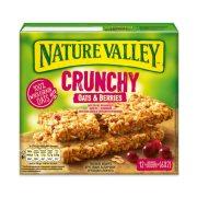 NATURE VALLEY Crunchy Μπάρες Δημητριακών με Βρώμη & Κράνμπερις 6x42gr