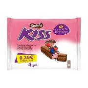 KISS Σοκολάτα με Γάλα & Φράουλα 4x27,5gr