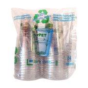 LARIPLAST Eco Friendly Ποτήρια Πλαστικά  Διαφανή  300ml 24τεμ