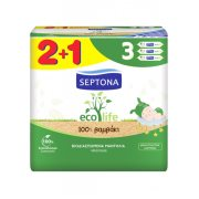 SEPTONA Ecolife Μωρομάντηλα 2x60τεμ + 1 Δώρο