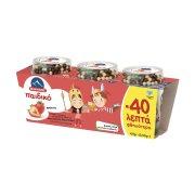 ΟΛΥΜΠΟΣ Επιδόρπιο Γιαουρτιού Φράουλα Παιδικό 3x145gr