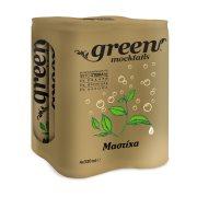 GREEN Mocktails Αναψυκτικό Mastic με Στέβια Χωρίς Ζάχαρη 4x330ml