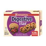 ΠΑΠΑΔΟΠΟΥΛΟΥ Digestive Bar Μπάρες Δημητριακών με Κόκκινα Φρούτα & Σοκολάτα Γάλακτος 5x28gr