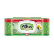 WET HANKIES Υγρομάντηλα Αντιβακτηριδιακά Lemon 72τεμ