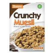 BONORA Crunchy Muesli Τραγανές Μπουκιές Δημητριακών με Βρώμη & Μαύρη Σοκολάτα 500gr