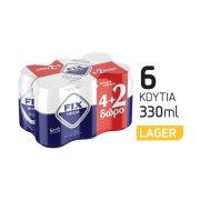 FIX Μπίρα Lager 4x330ml +2 Δώρο