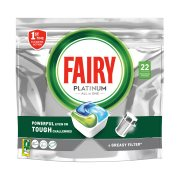 FAIRY Platinum Απορρυπαντικό Πλυντηρίου Πιάτων Ταμπλέτες Κανονικό 22τεμ 328gr