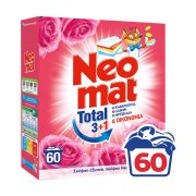 NEOMAT Total Απορρυπαντικό Πλυντηρίου Ρούχων Σκόνη Άγριο Τριαντάφυλλο 60 πλύσεις