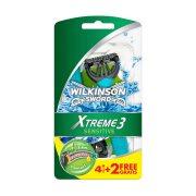 WILKINSON  Extreme 3 Sensitive Ξυραφάκια Μιας Χρήσης 4τεμ +2 Δώρο
