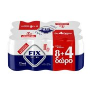 FIX Μπίρα Lager 8x330ml +4 Δώρο