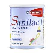 ΓΙΩΤΗΣ Sanilac 1 Γάλα 1ης Βρεφικής Ηλικίας 0-6 Μηνών σε σκόνη 400gr