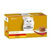GOURMET Gold Υγρή Τροφή Γάτας  Βοδινό & Κοτόπουλο Ταρτάρ 4x85gr