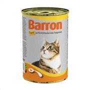 BARRON Υγρή Τροφή Γάτας Κοτόπουλο & Λαχανικά Πατέ 400gr