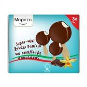 ΜΑΡΑΤΑ Super Mini Παγωτό Ξυλάκι Βανίλια με Επικάλυψη Σοκολάτας 30τεμ 600gr